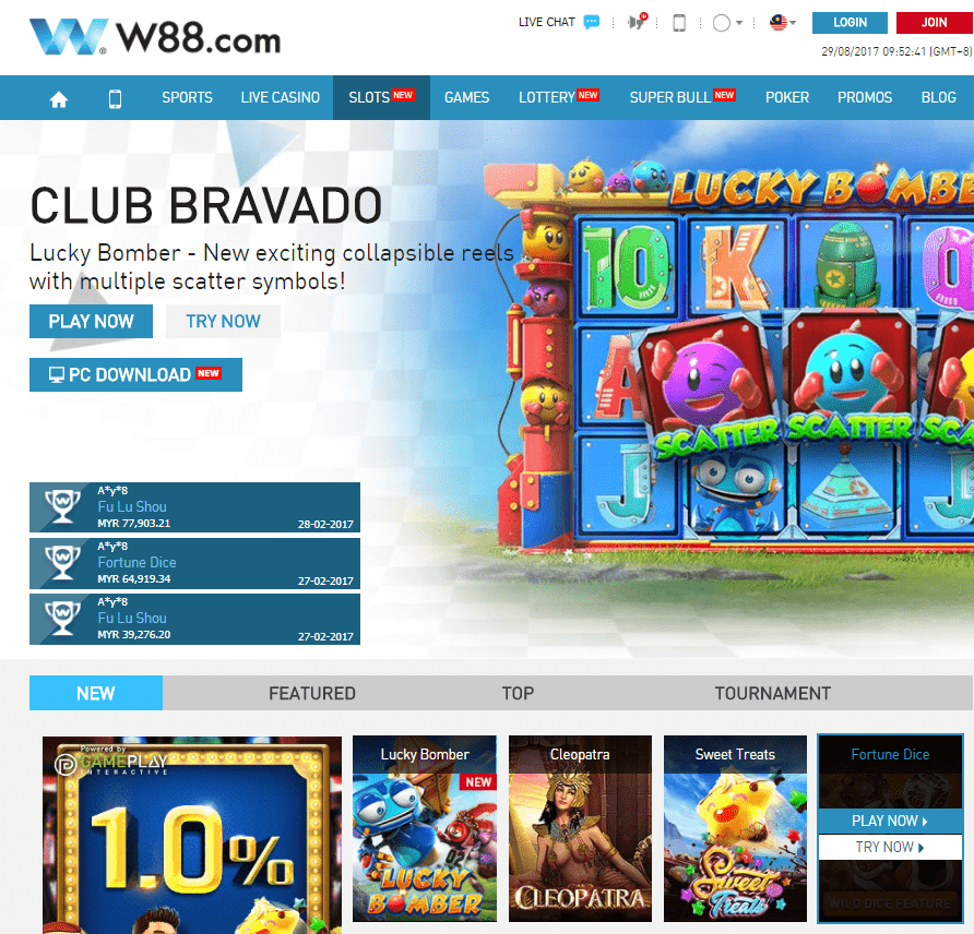 slot game w88 club bravado